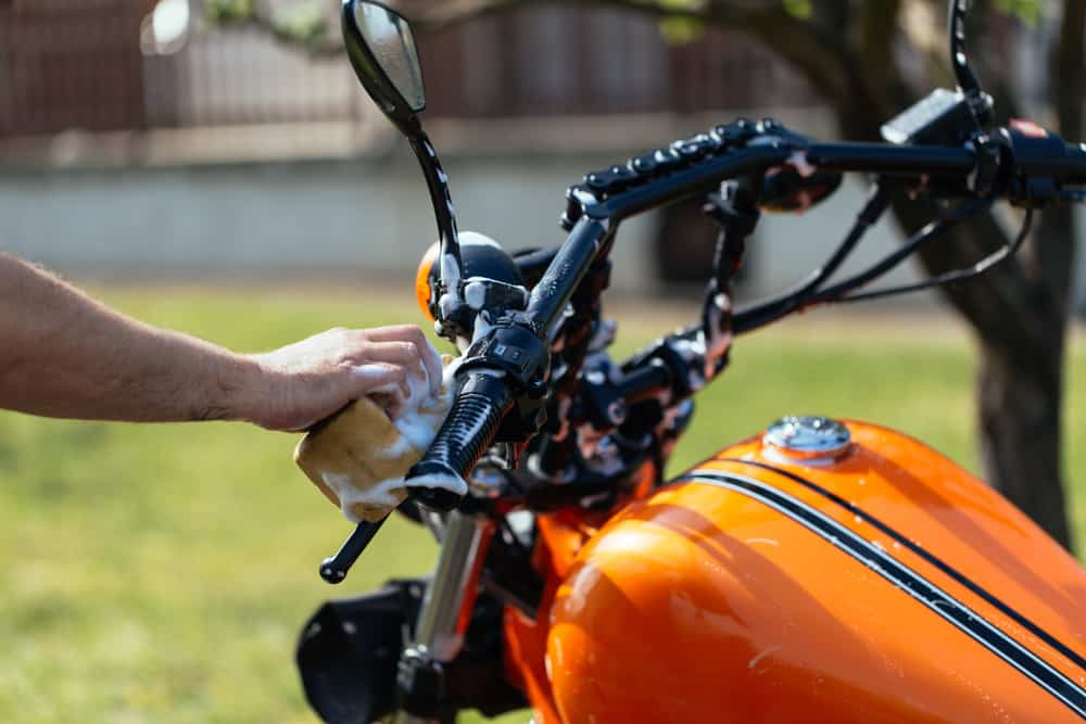Cleaning a Harley Davidson