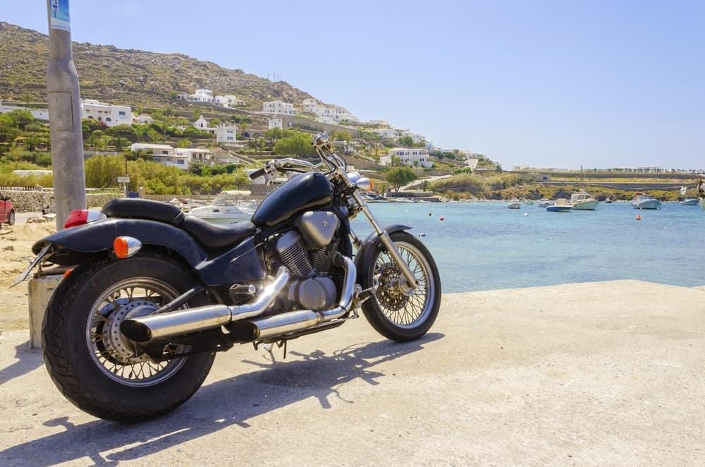 Harley Davidson at a beach